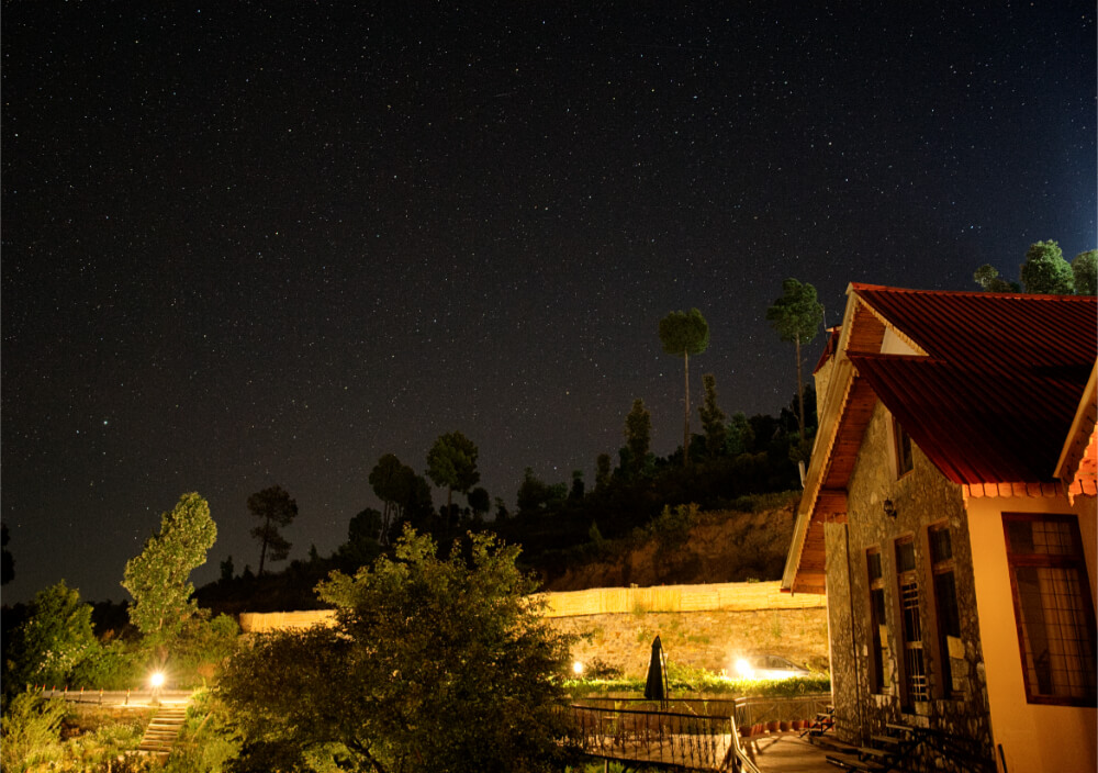 Starry Sky behind our cottages