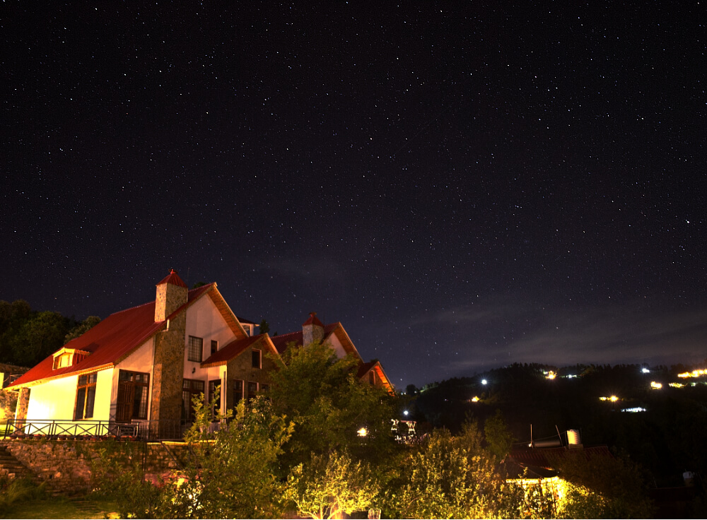 Starry Sky above Maini's Hill Cottages
