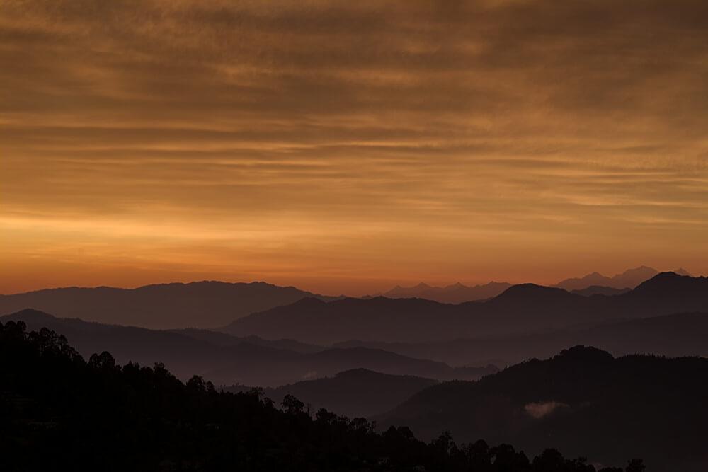 A yellow sunset.