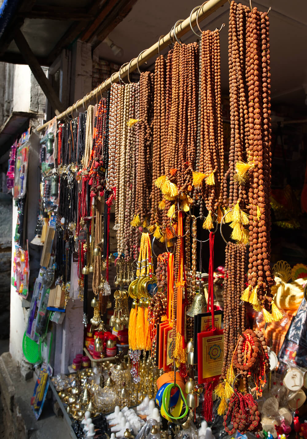Shops near Temples selling Souvenirs and Religious Items